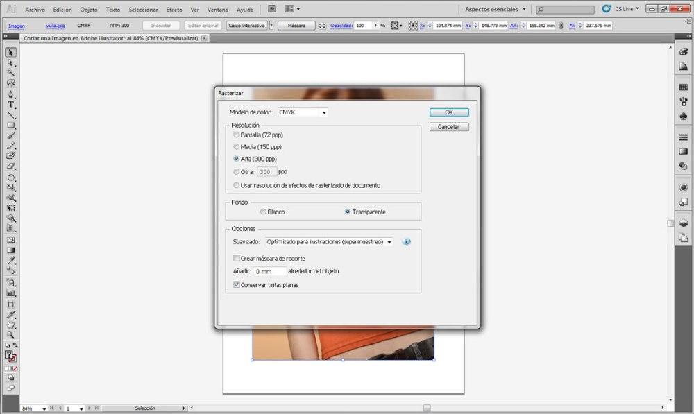 Cortar una Imagen en Adobe Illustrator 007